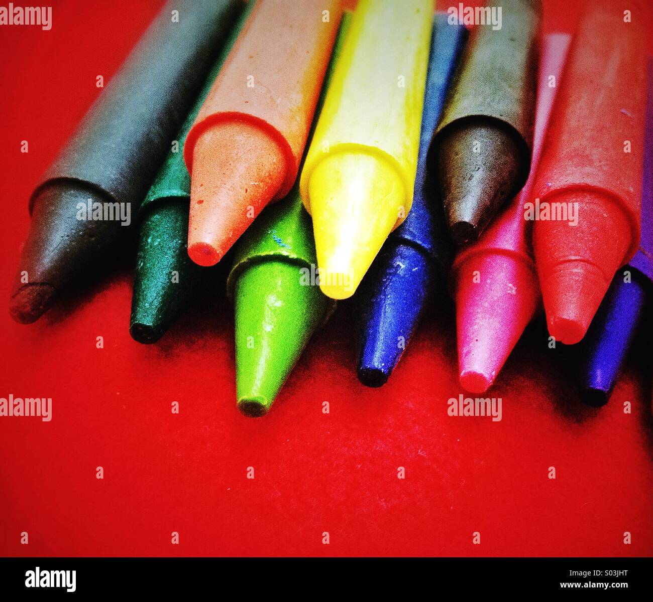 Colour crayons - Stock Image