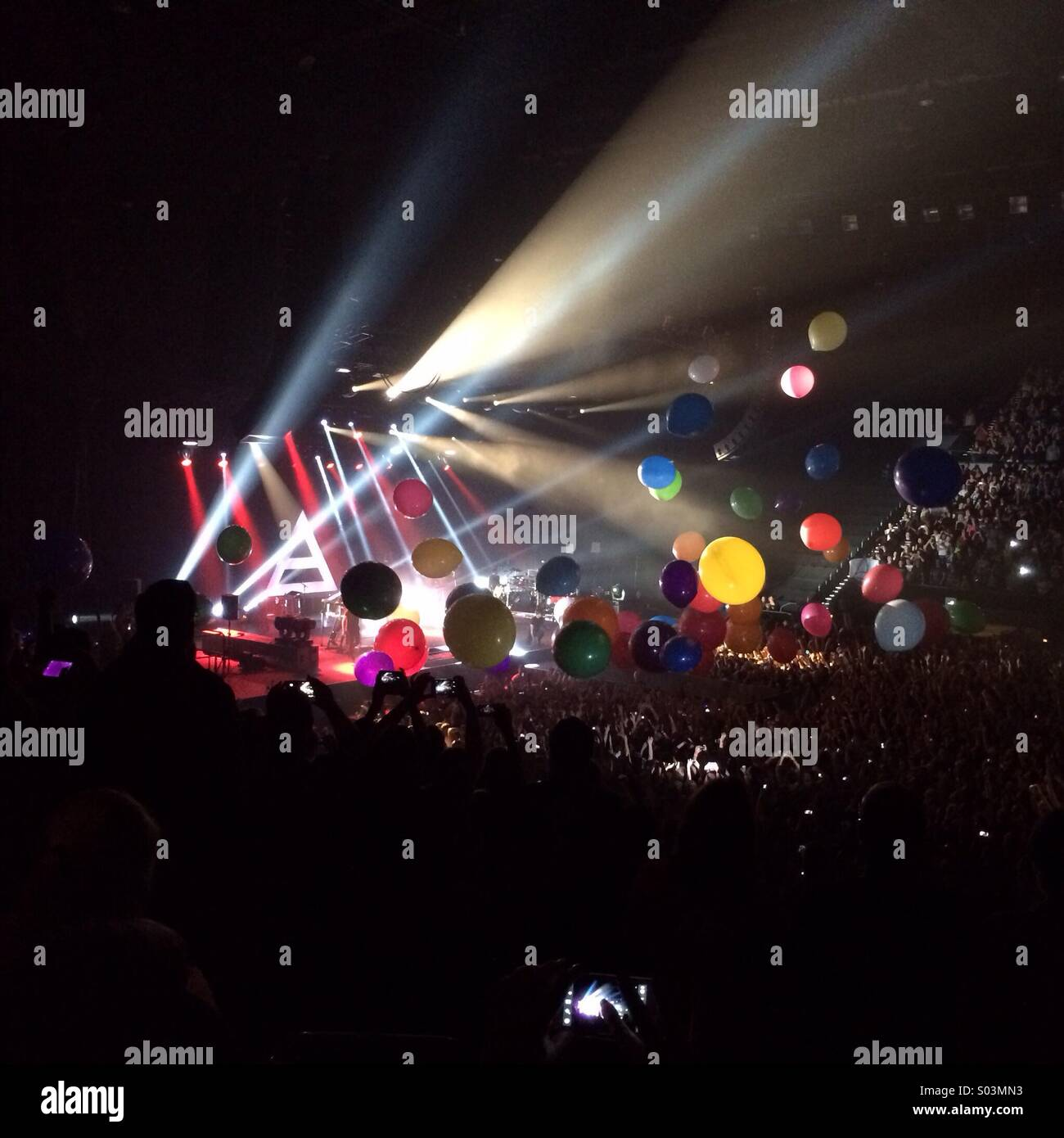 30 Seconds To Mars in concert at the Sydney Entertainment Centre Saturday 29th March 2014 - Stock Image