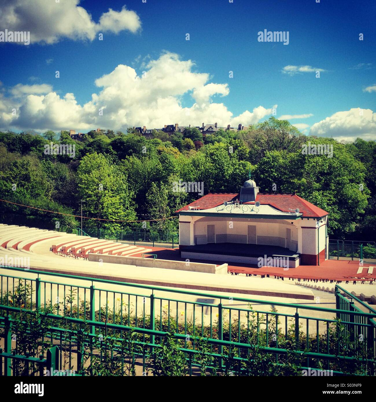 The newly refurbished kelvin grove bandstand - Stock Image
