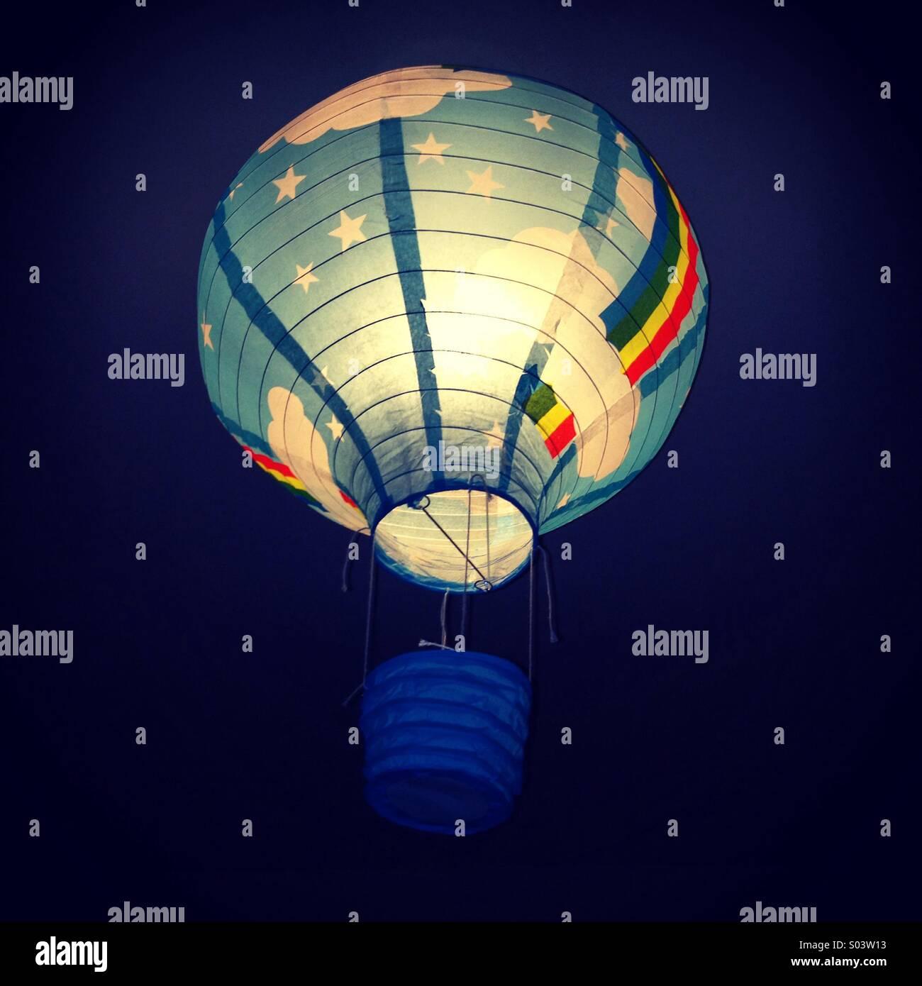 Hot air balloon lampshade stock photo 309872111 alamy hot air balloon lampshade aloadofball Images
