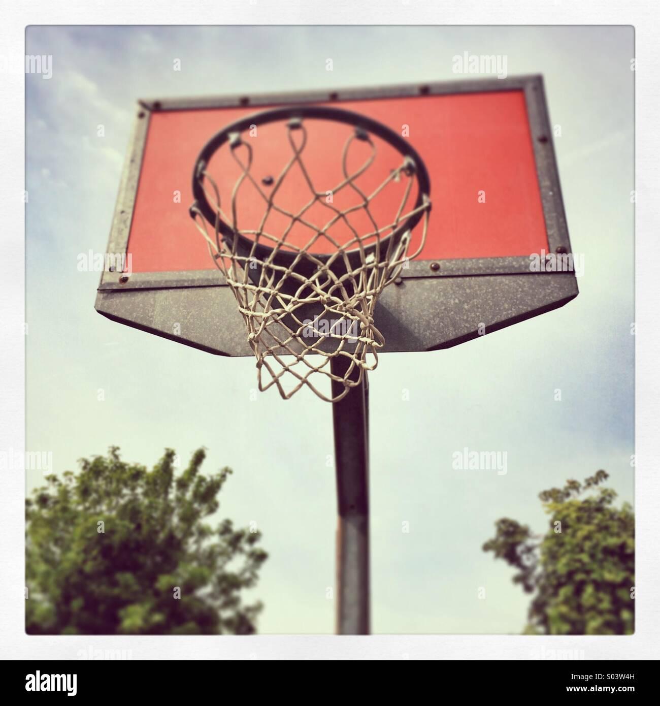 A basketball hoop - Stock Image