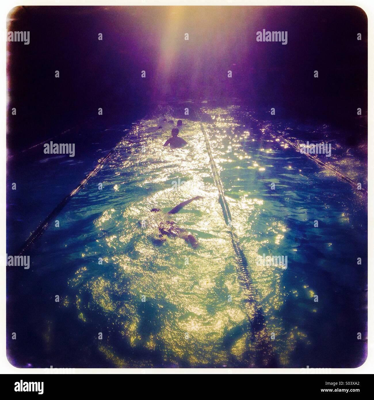 Swim practice - Stock Image