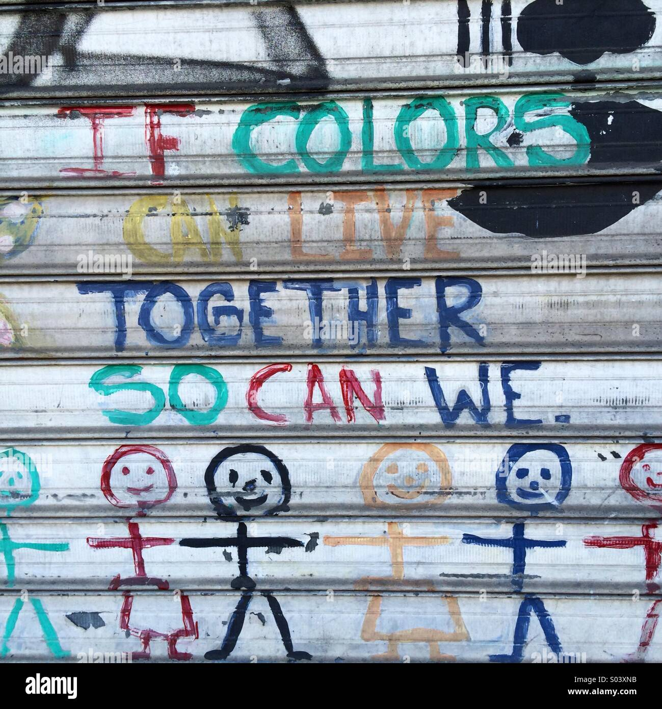 If colors can live together... Brooklyn, NY - Stock Image