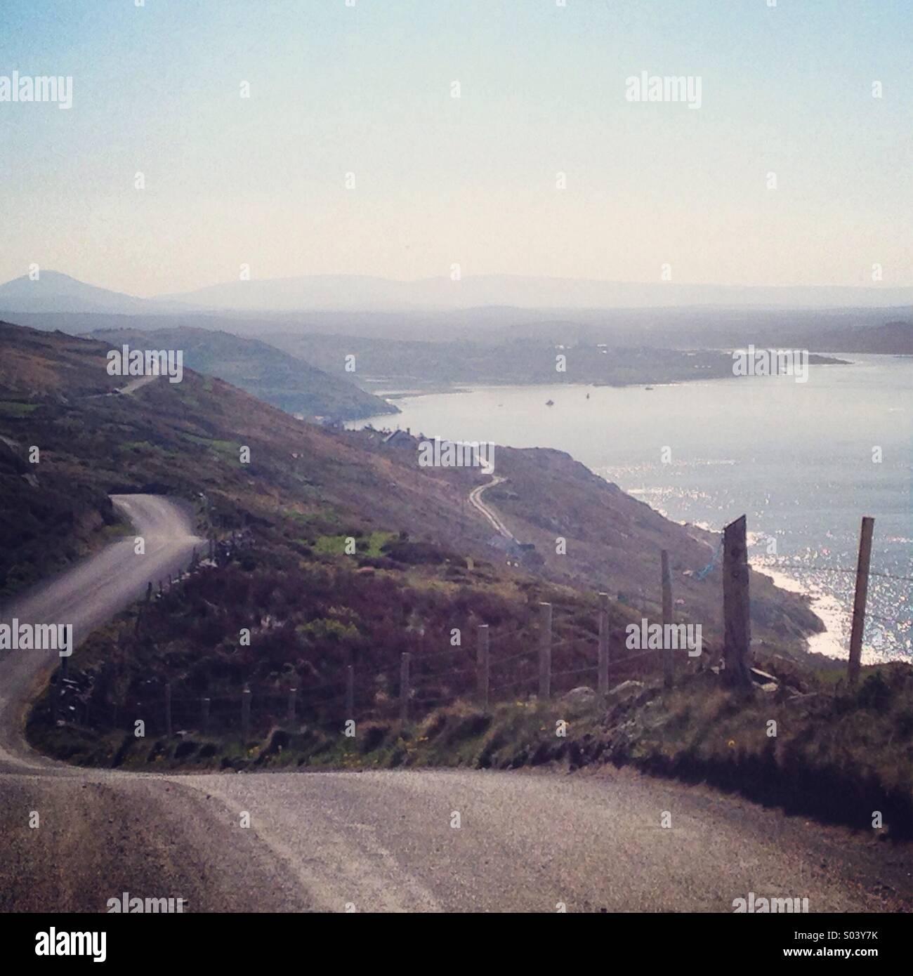 The Sky Road along the Wild Atlantic Way, Connemara, Ireland - Stock Image