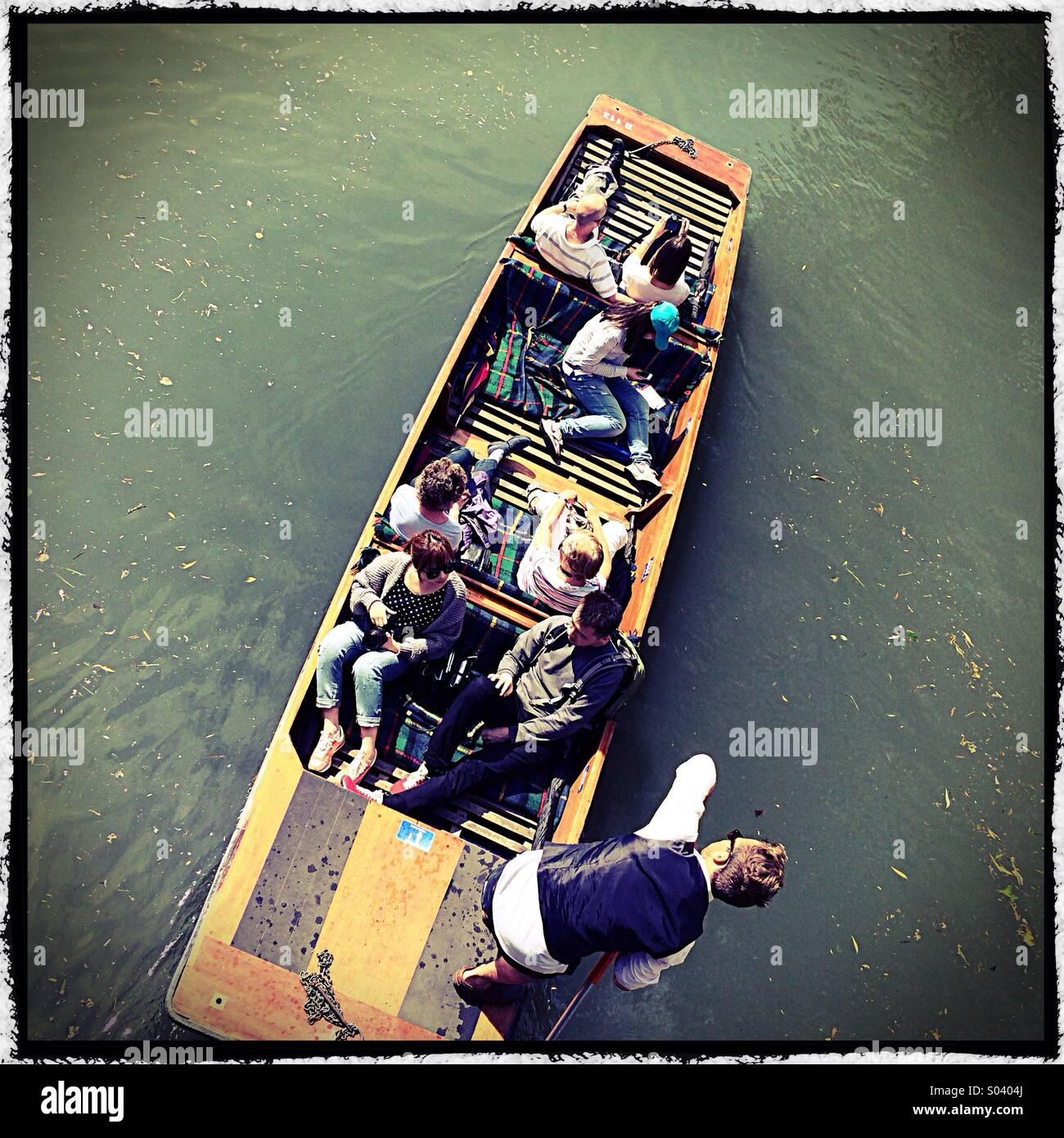 Cambridge punting - Stock Image