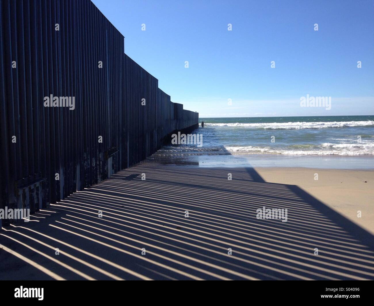 San Diego Mexico border - Stock Image