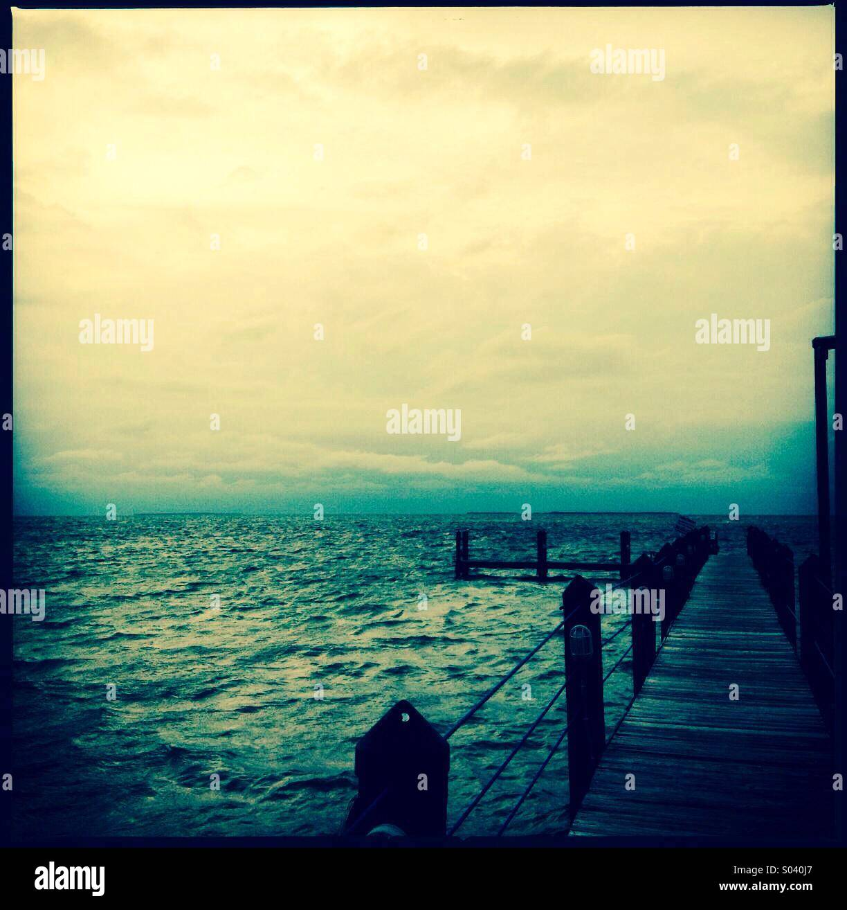 Dock in Florida, USA - Stock Image