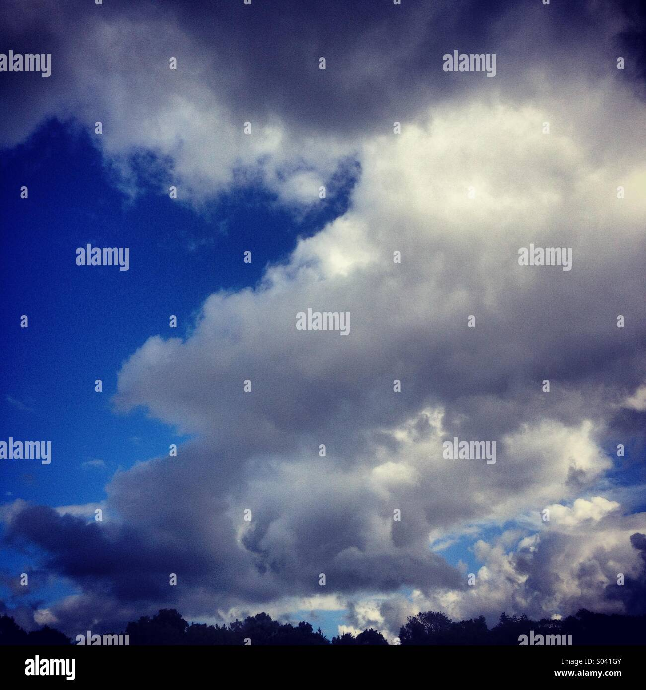 Storm clouds over Godalming in Surrey, UK. - Stock Image