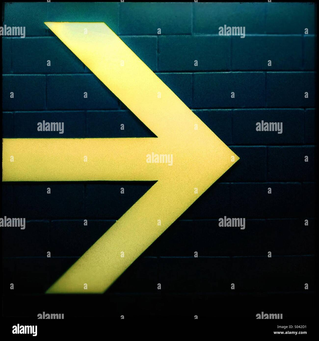 Forward arrow sign - Stock Image