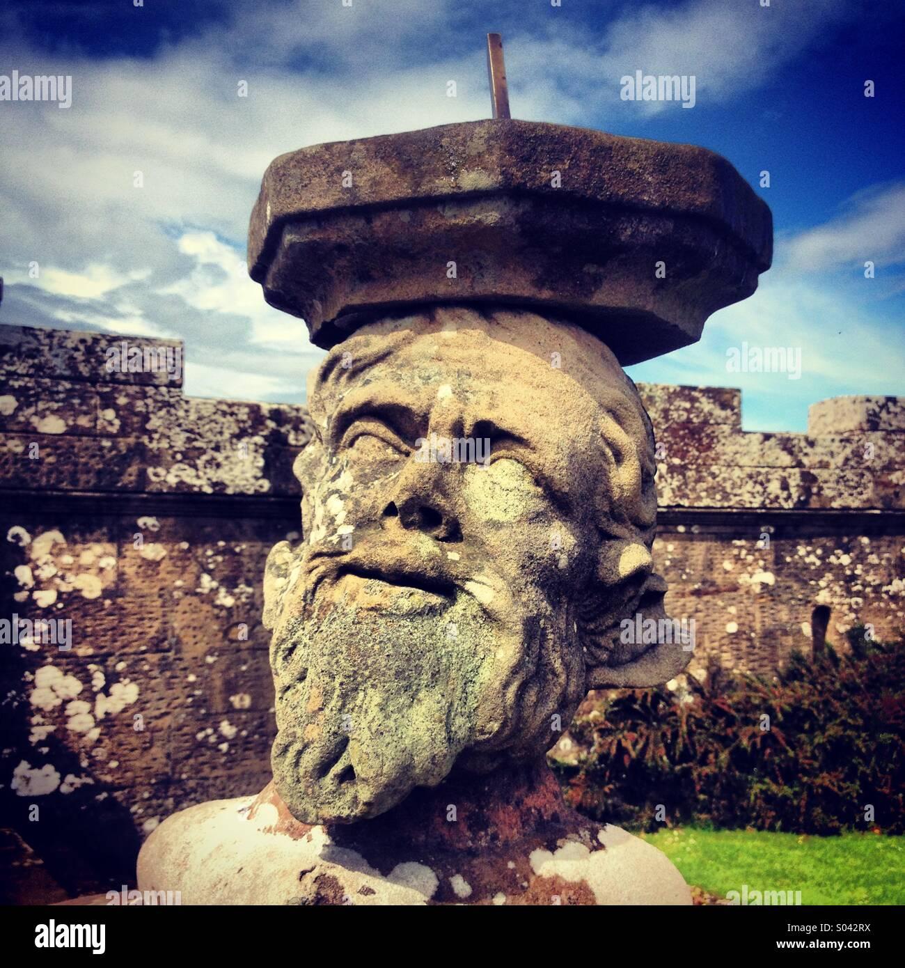 Sun dial clock at Culzean Castle, Maidens, Ayrshire, Scotland - Stock Image
