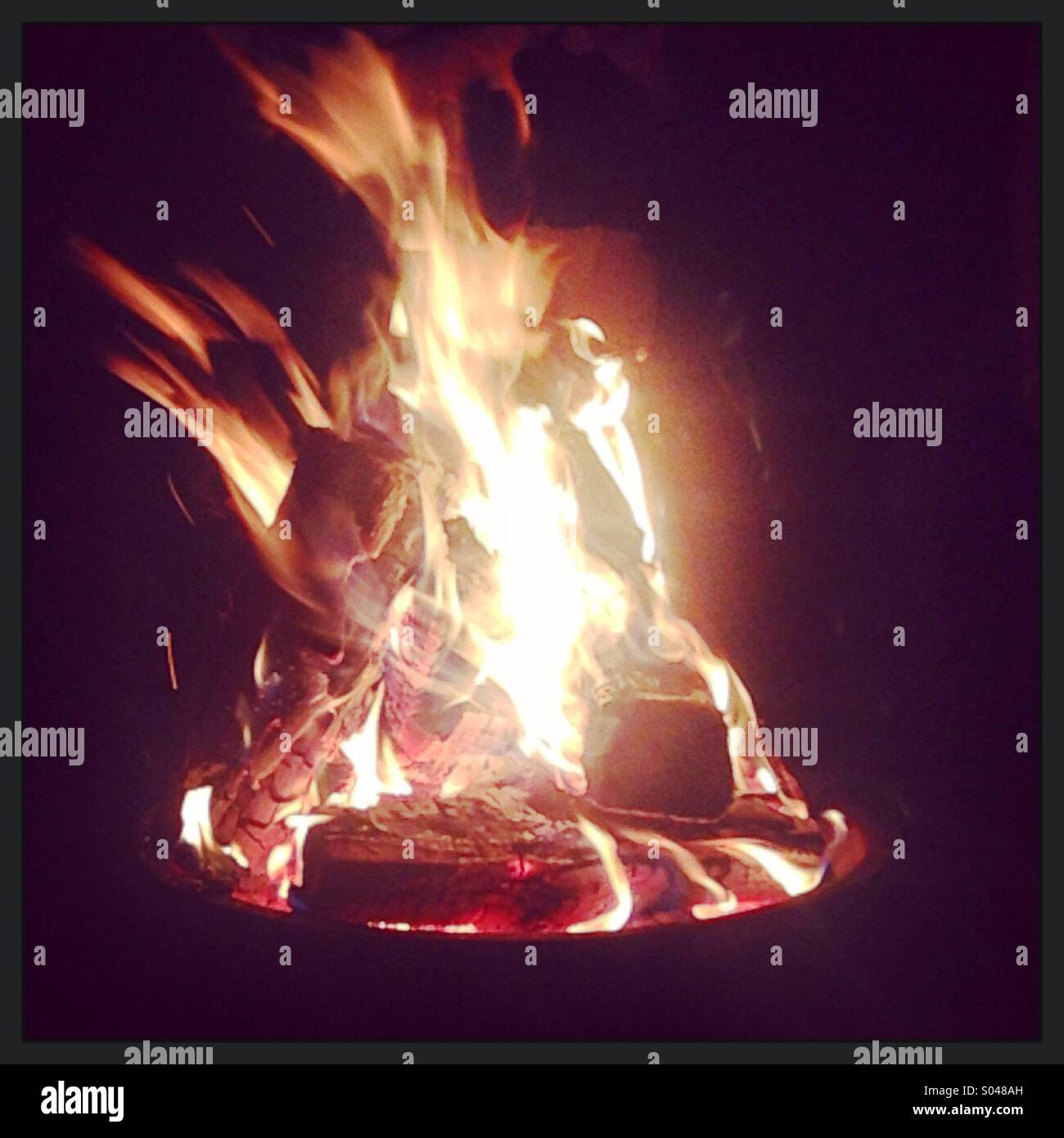 Summer fire - Stock Image