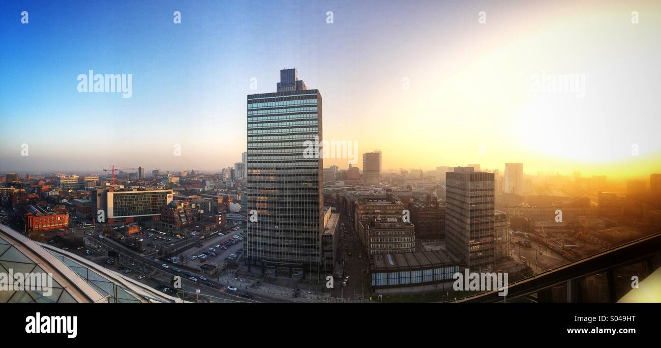 Golden evening over Manchester - Stock Image