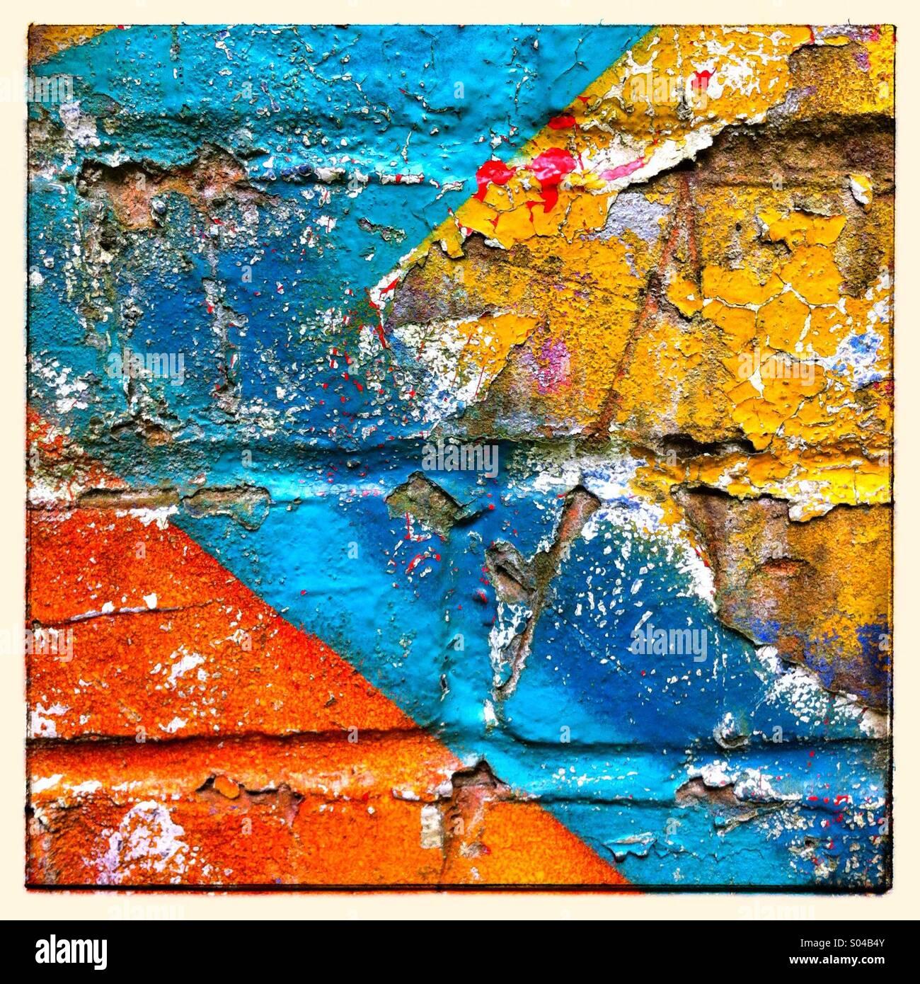 Graffiti paint detail shot - Stock Image