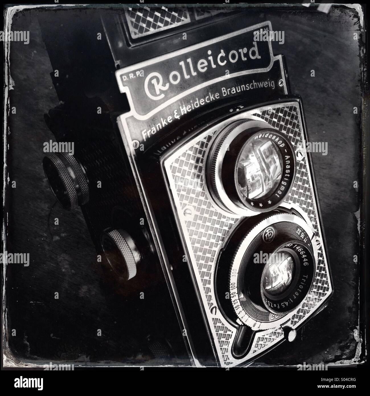 Rollei Rolleicord Deco vintage film camera Stock Photo