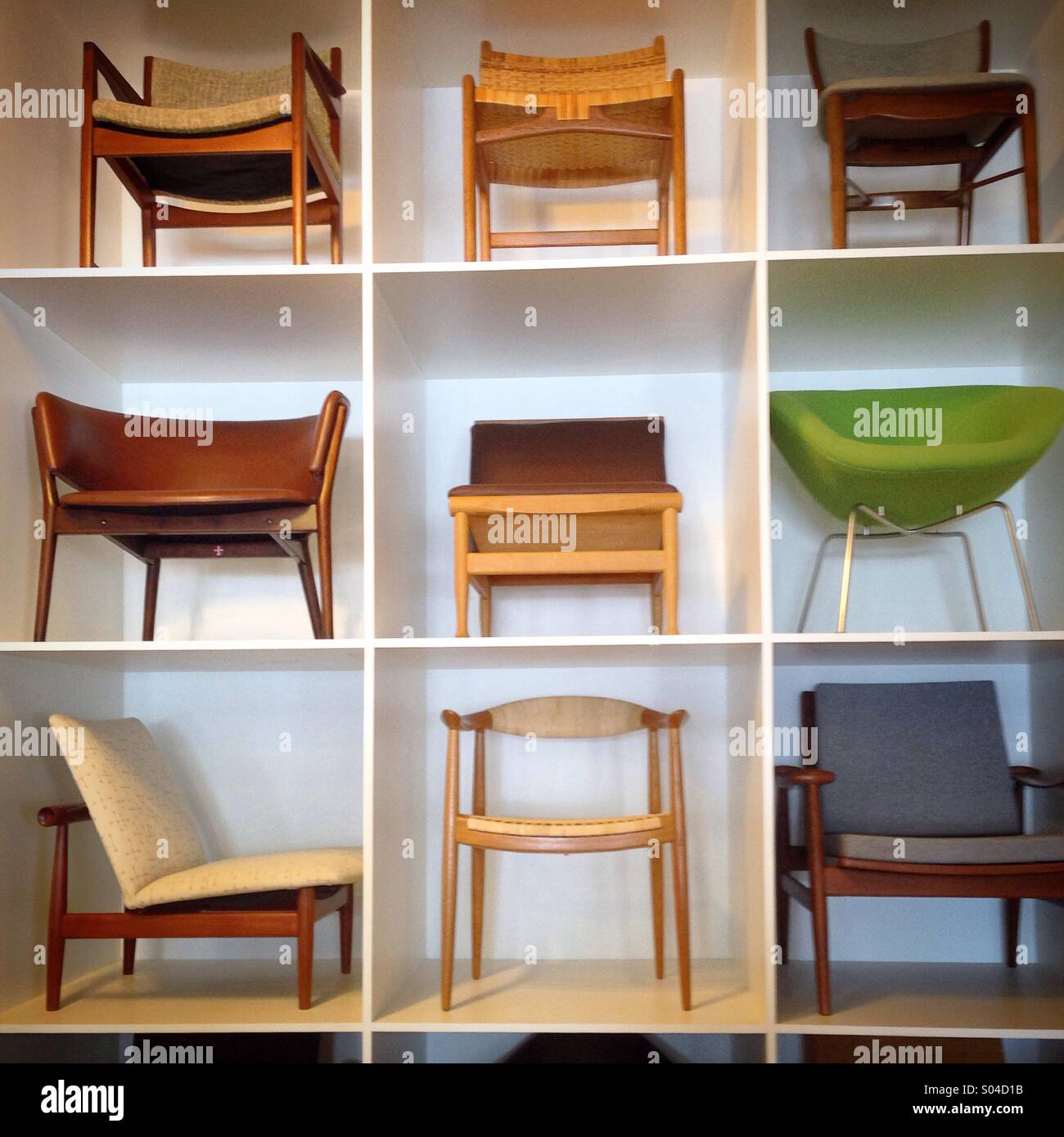Mid century chairs - Stock Image