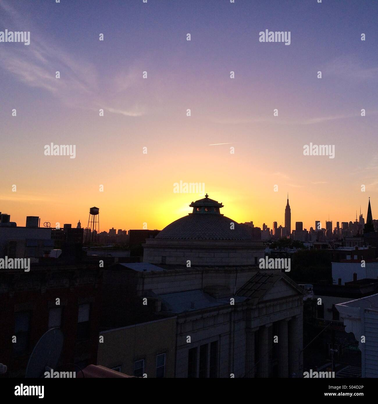 Rooftop in greenpoint Brooklyn - Stock Image