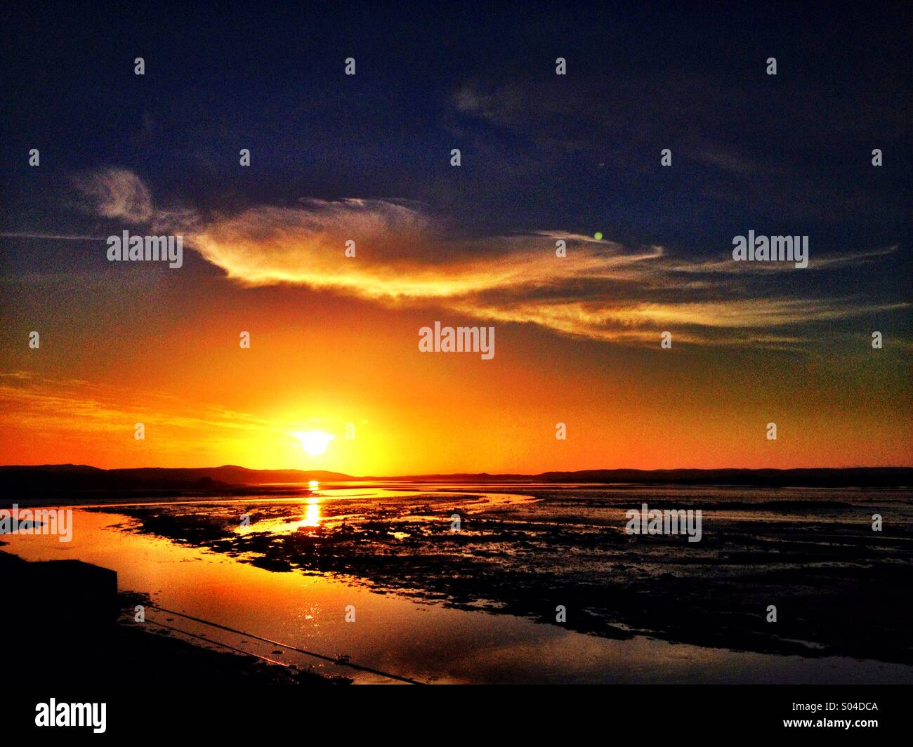 Loughros Point Sunset - Stock Image