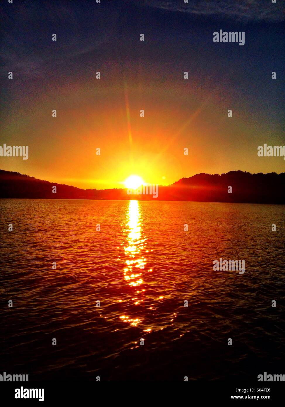 Sunset at Dale Hollow Lake! - Stock Image
