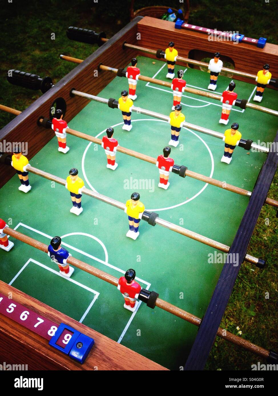 Football, vintage Tisch Fussball game - Stock Image