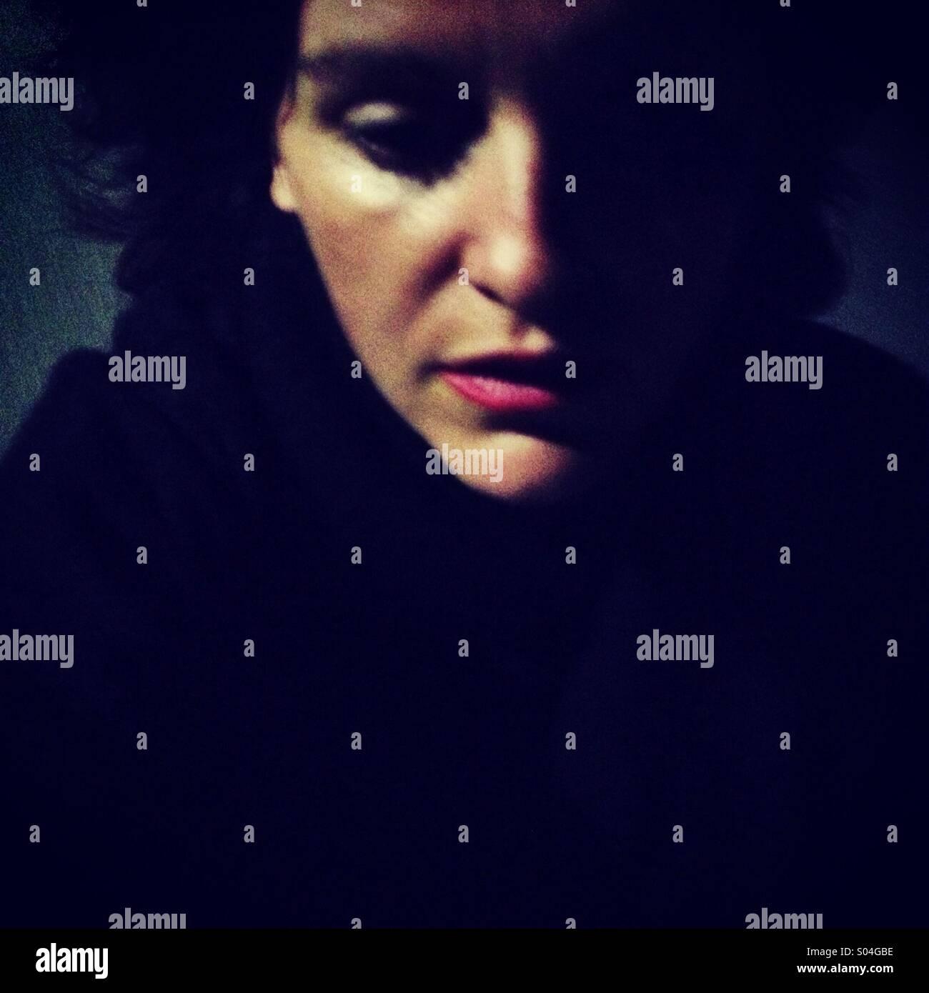 Evening sadness - Stock Image