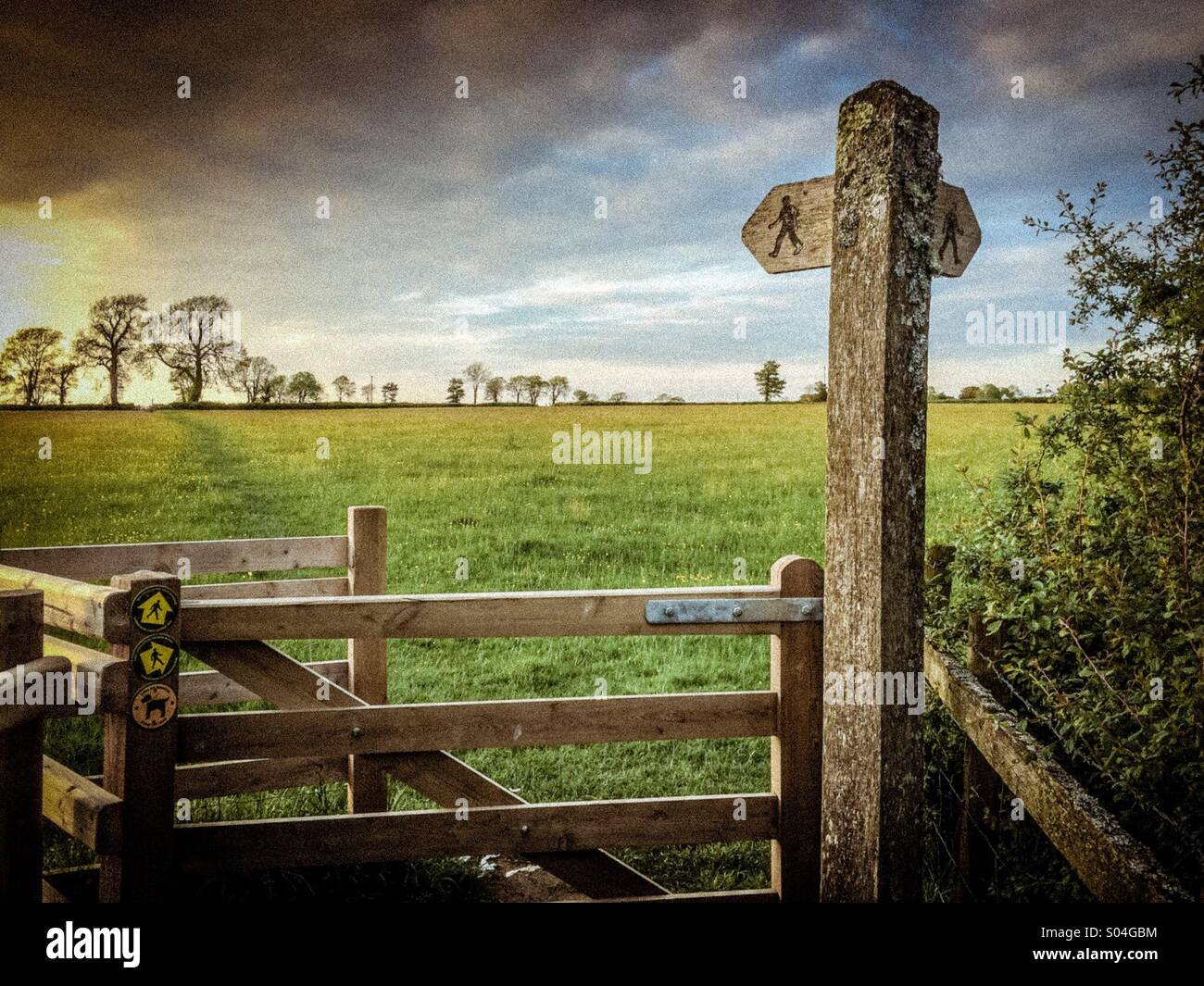 A walk in the countryside - Stock Image