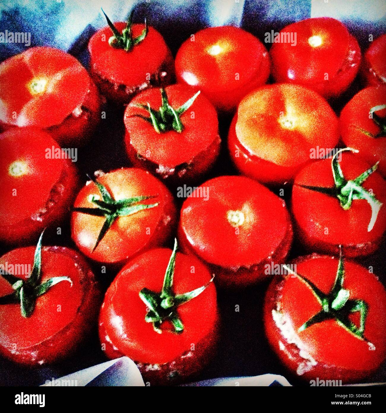 Stuffed tomatoes - Stock Image