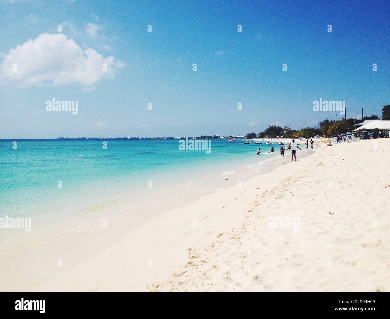 Seven Mile Beach, Grand Cayman - Stock Image