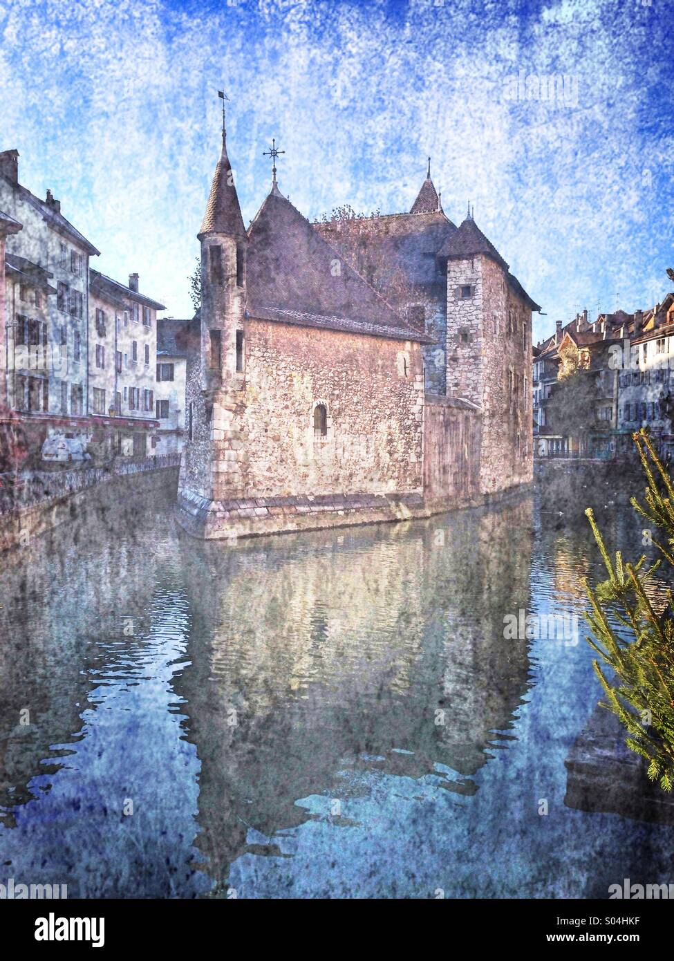 Mystical church and prison, Annecy,France - Stock Image