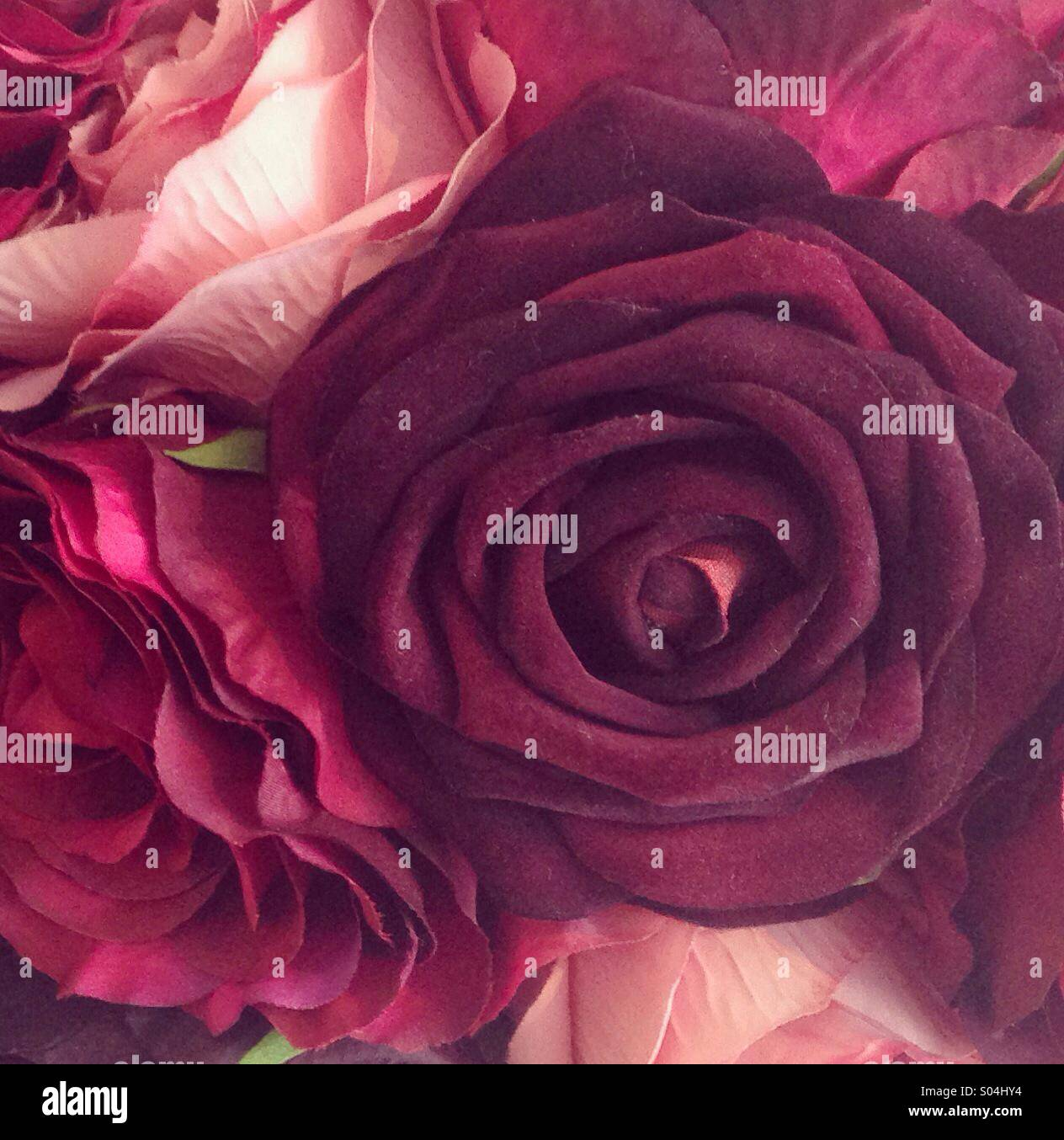 Fake red roses Stock Photo