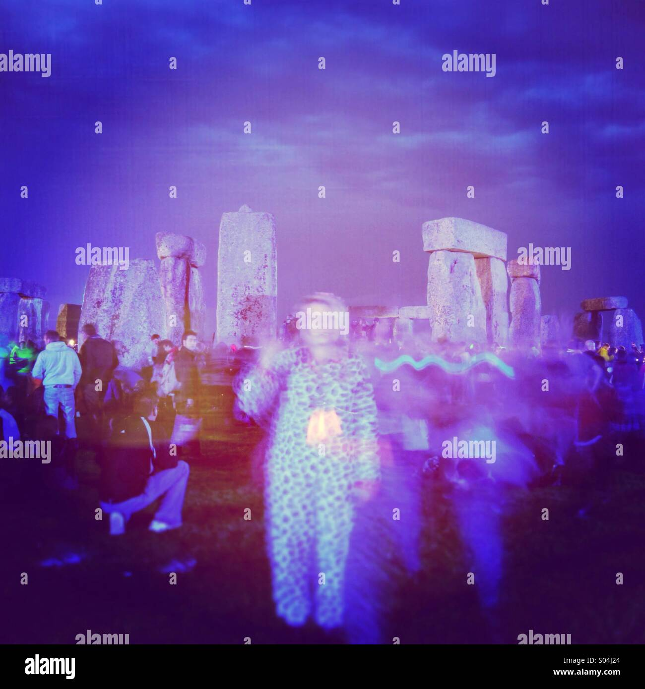 Stonehenge Solstice Stock Photo