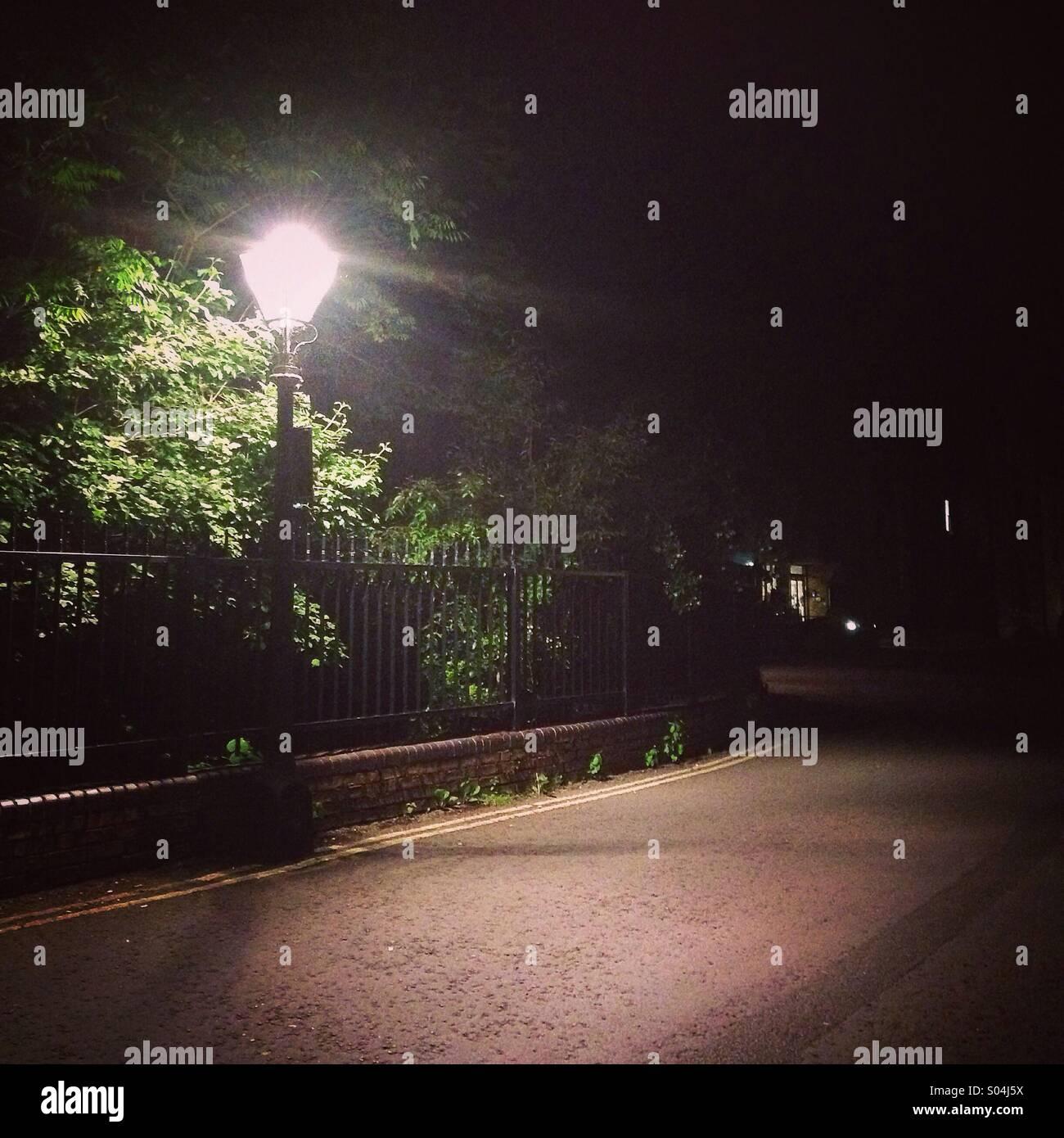 Nighttime street scene - Stock Image
