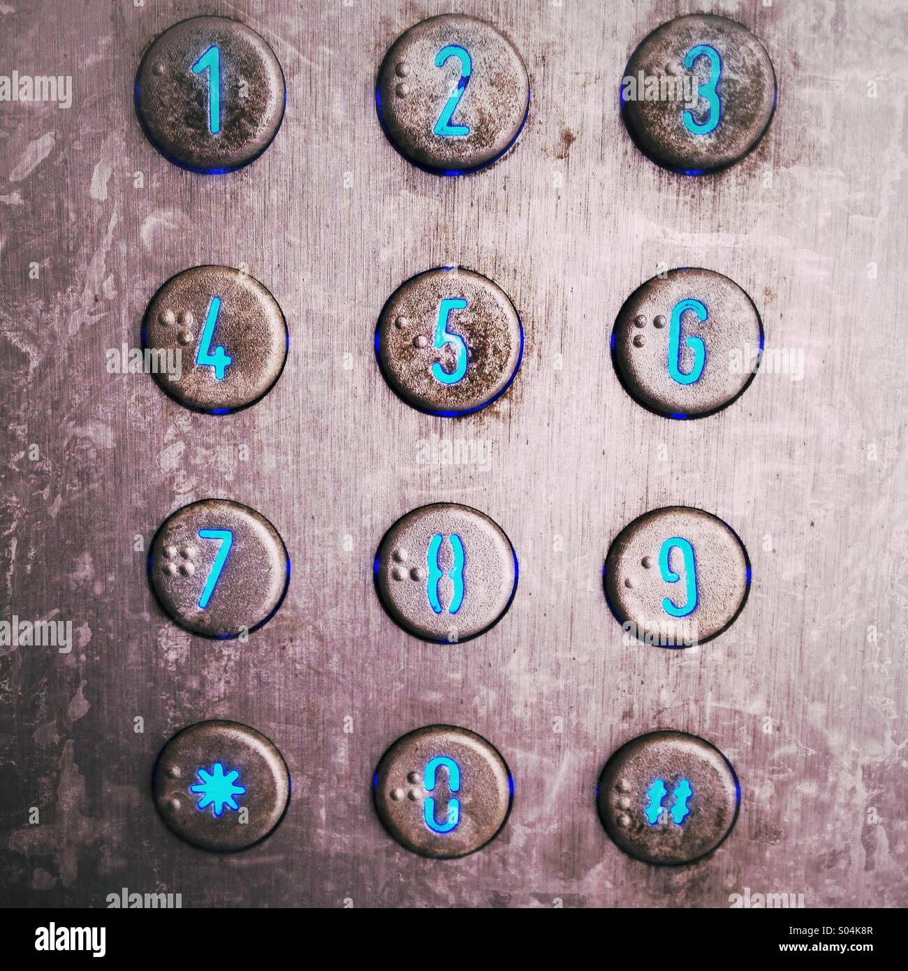 Numbers intercom - Stock Image