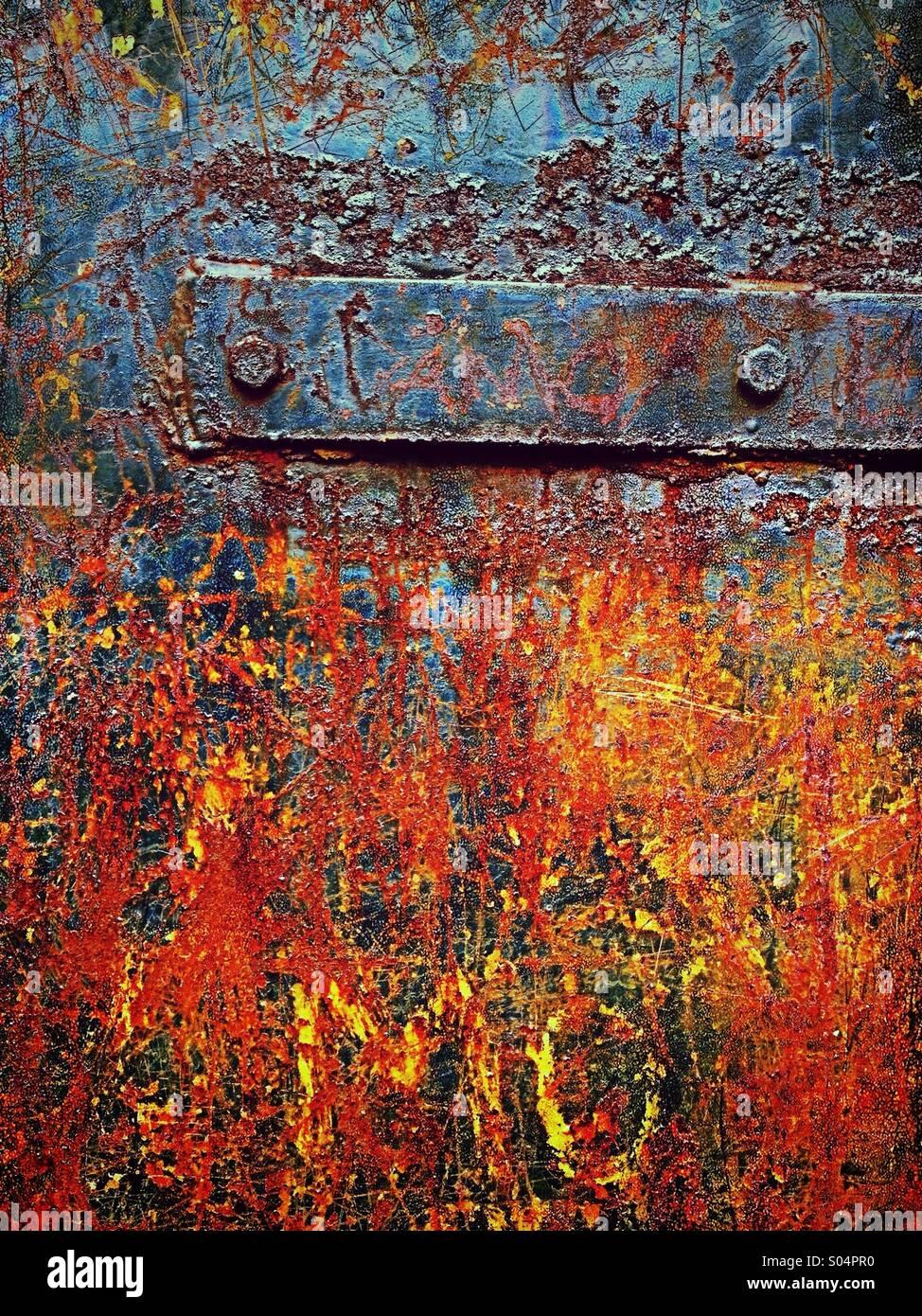 Rust on door - Stock Image