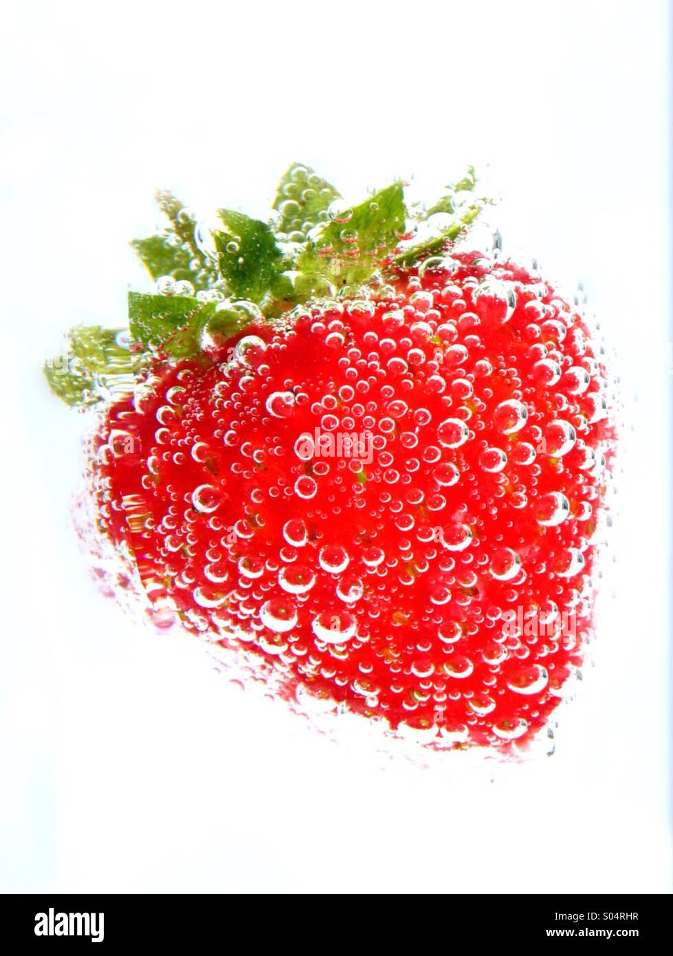 Bubbly strawbelly - Stock Image