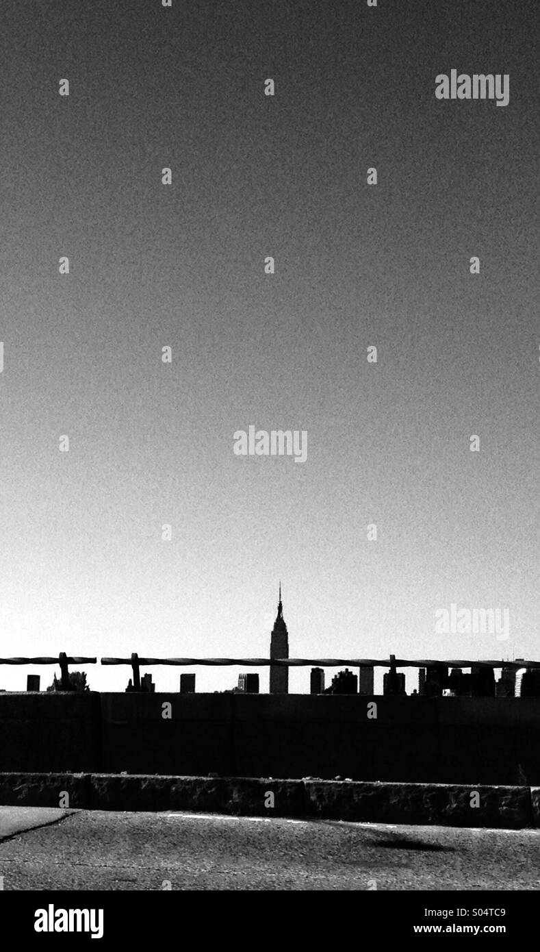 New York from road - Stock Image