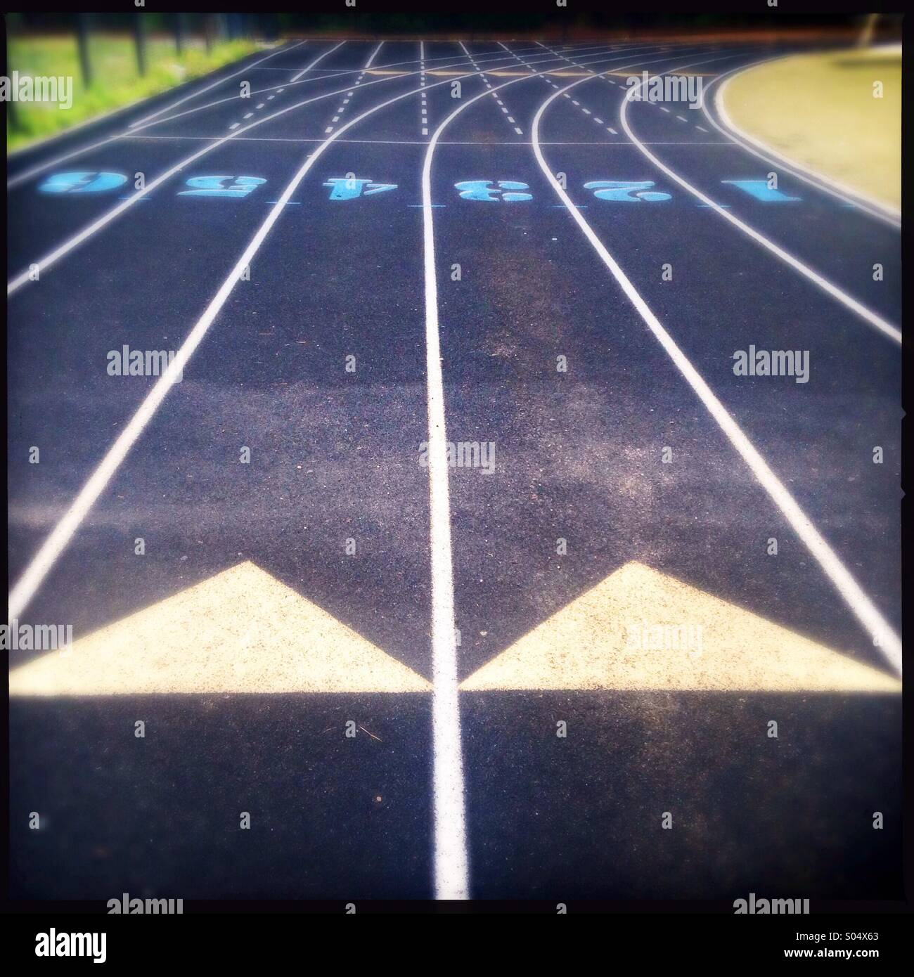 Track field - Stock Image