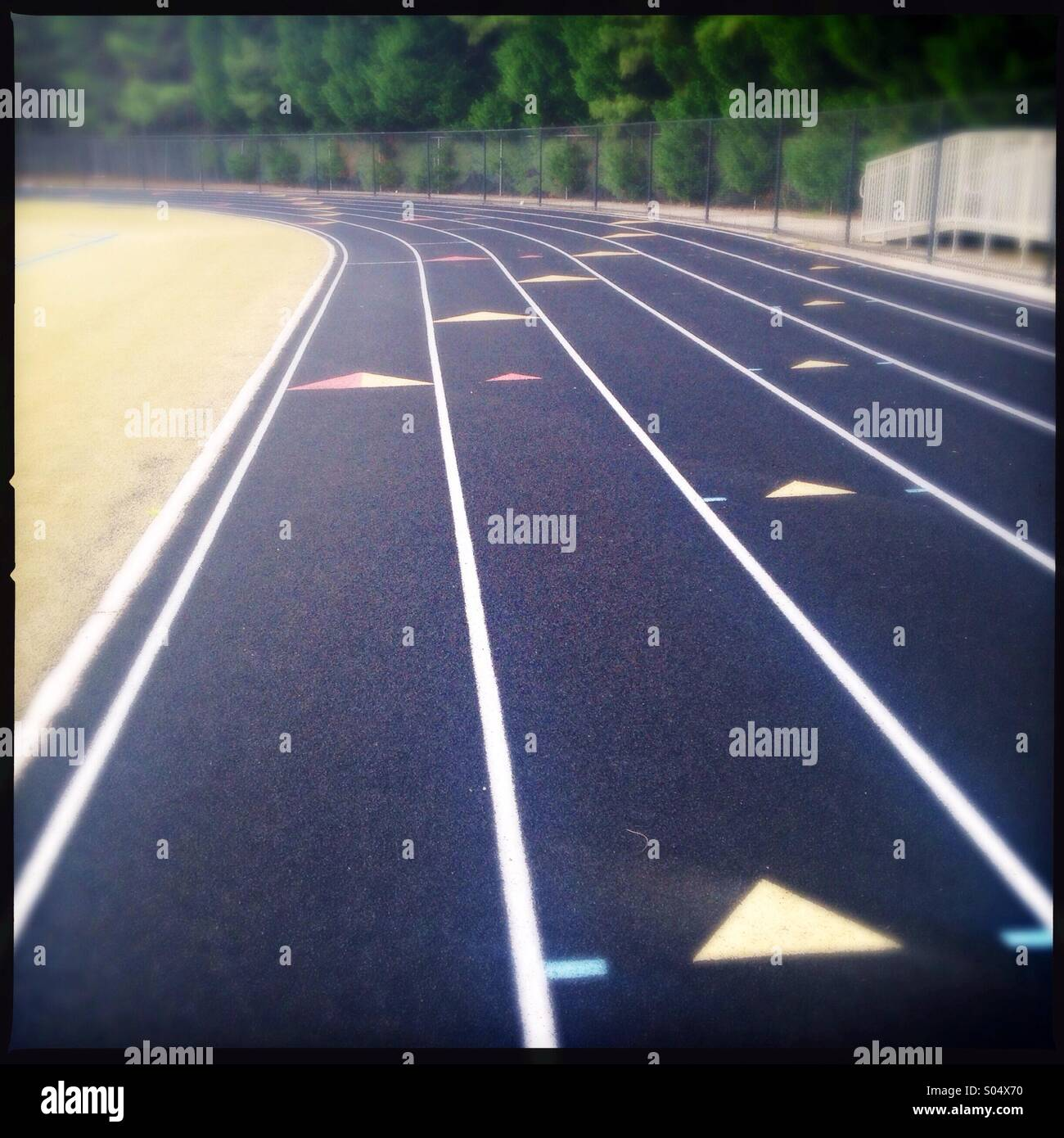 Empty track field - Stock Image