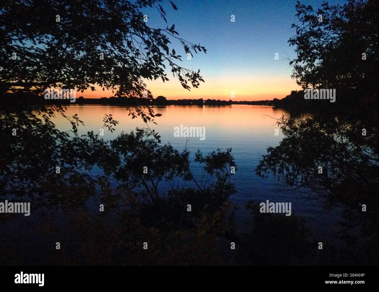 Mitchell, SD lake - Stock Image