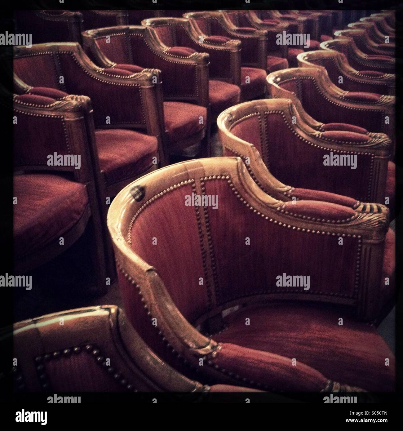 Theater chairs - Stock Image