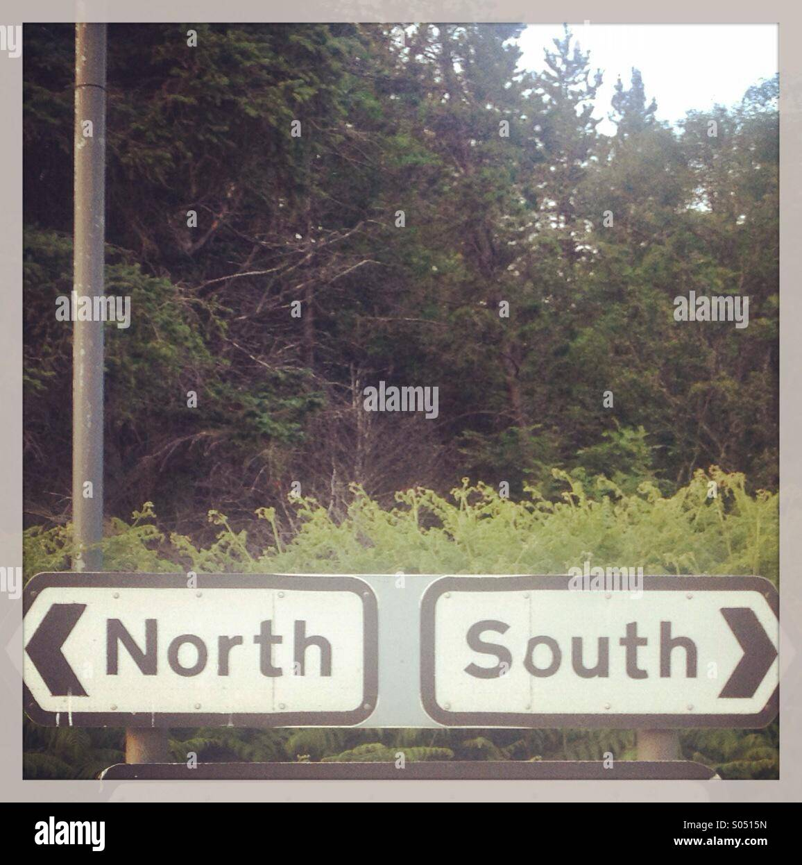 North or South? - Stock Image