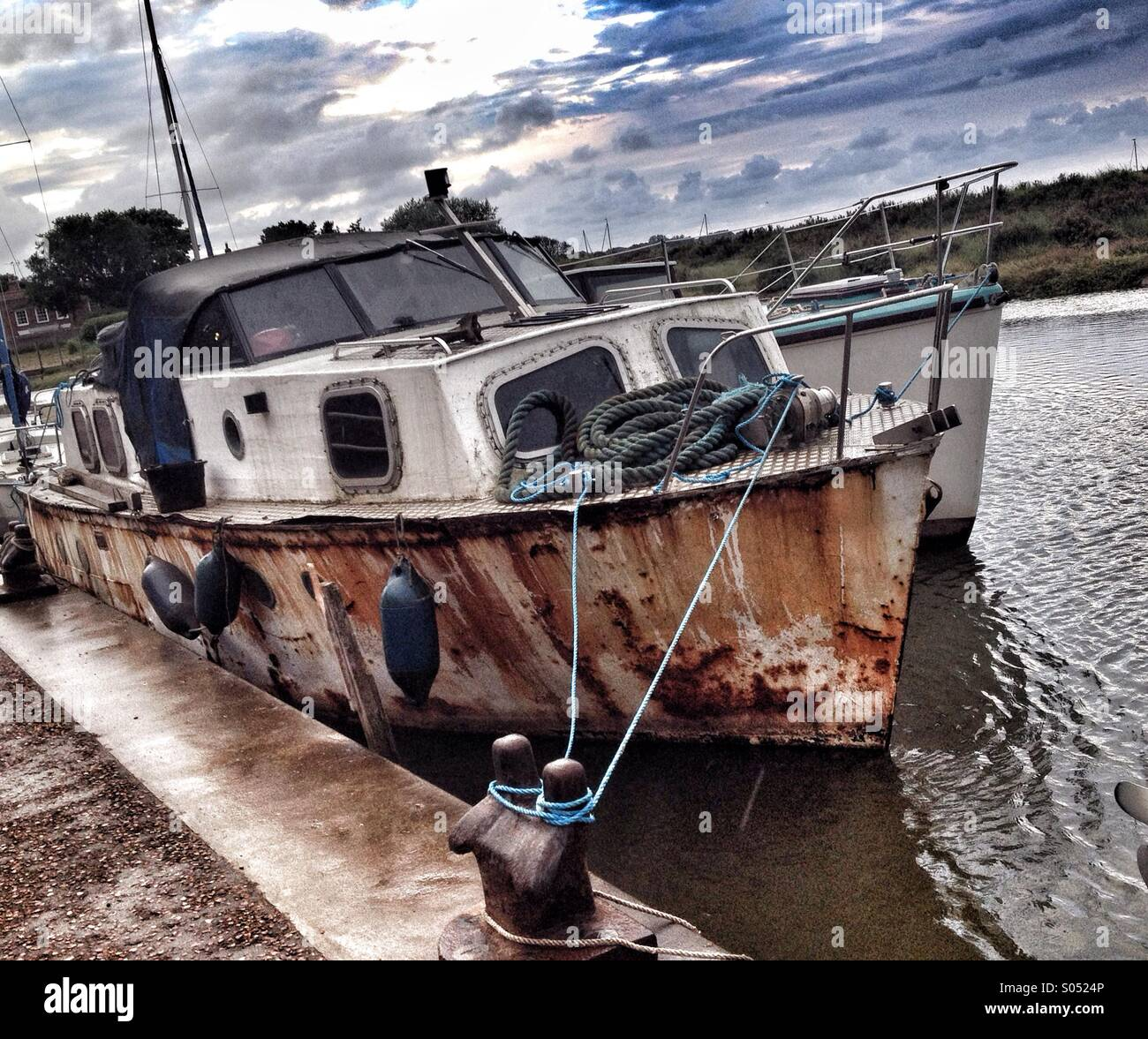 Rusty Boat - Stock Image