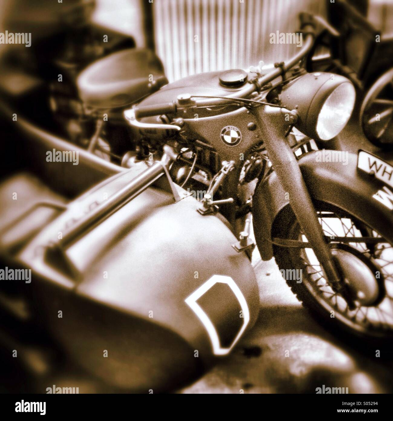 BMW R75 motorcycle - Stock Image
