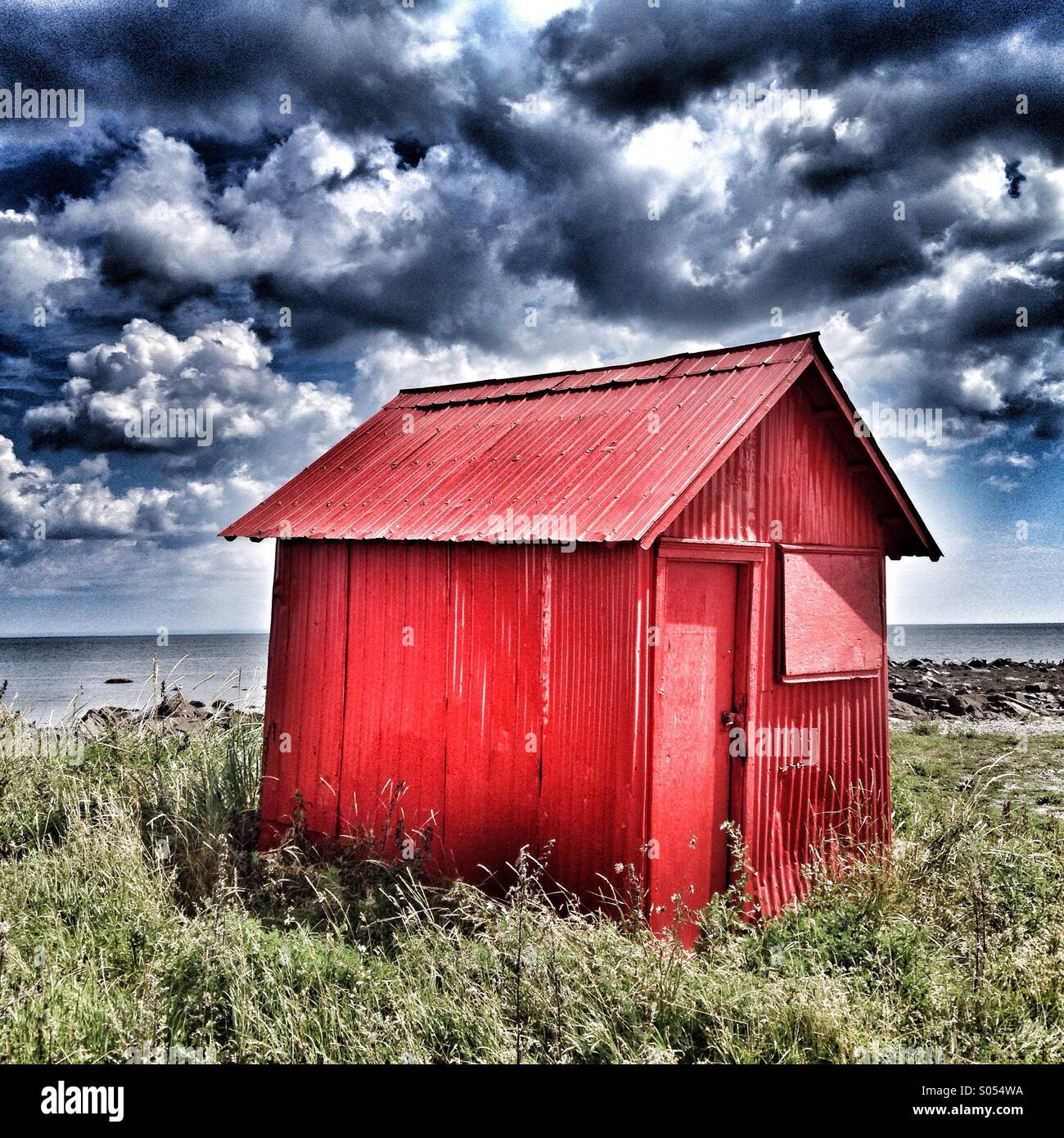 Red Shack - Stock Image