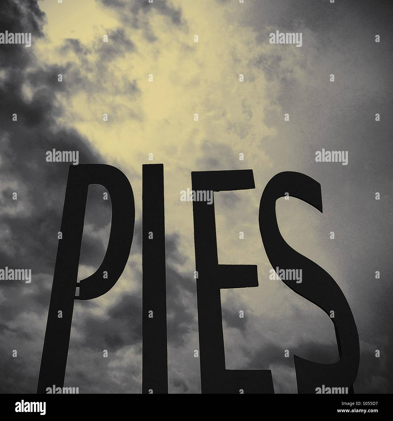 Pie in the sky - Stock Image