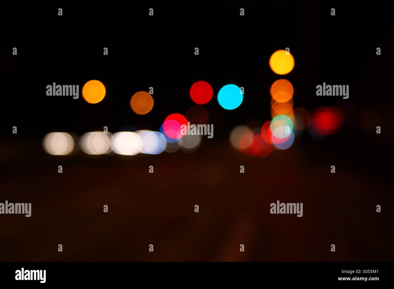 light art light dots - Stock Image