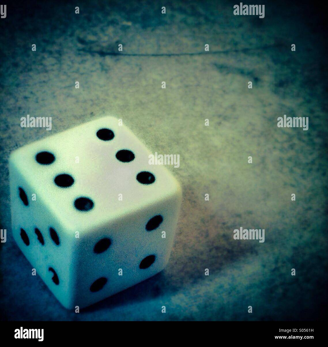 Dice six. Number 6 - Stock Image