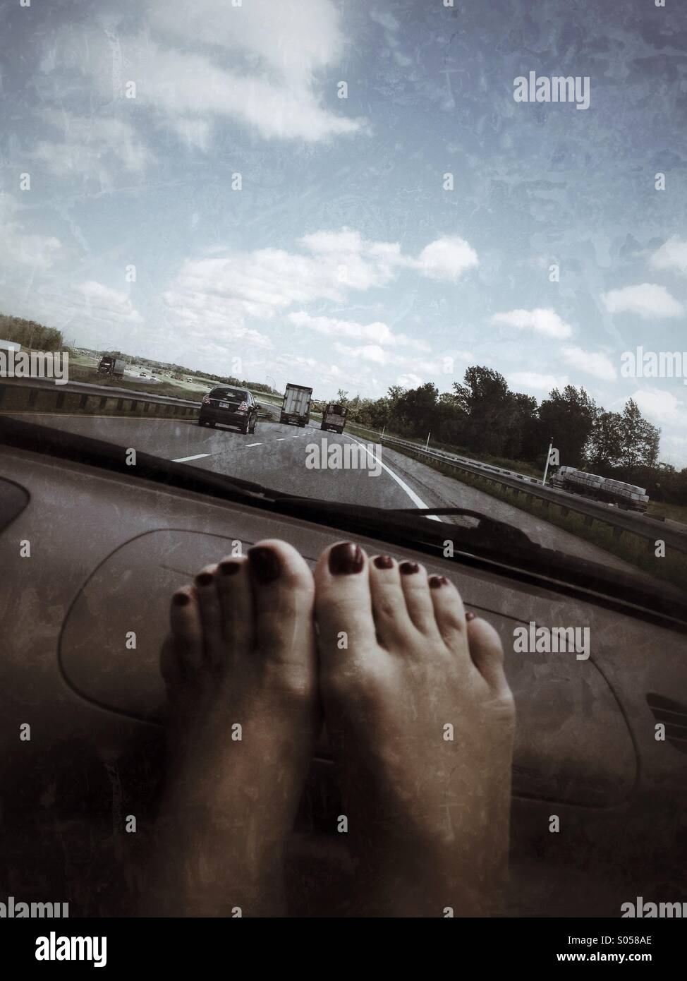 On the road - Stock Image