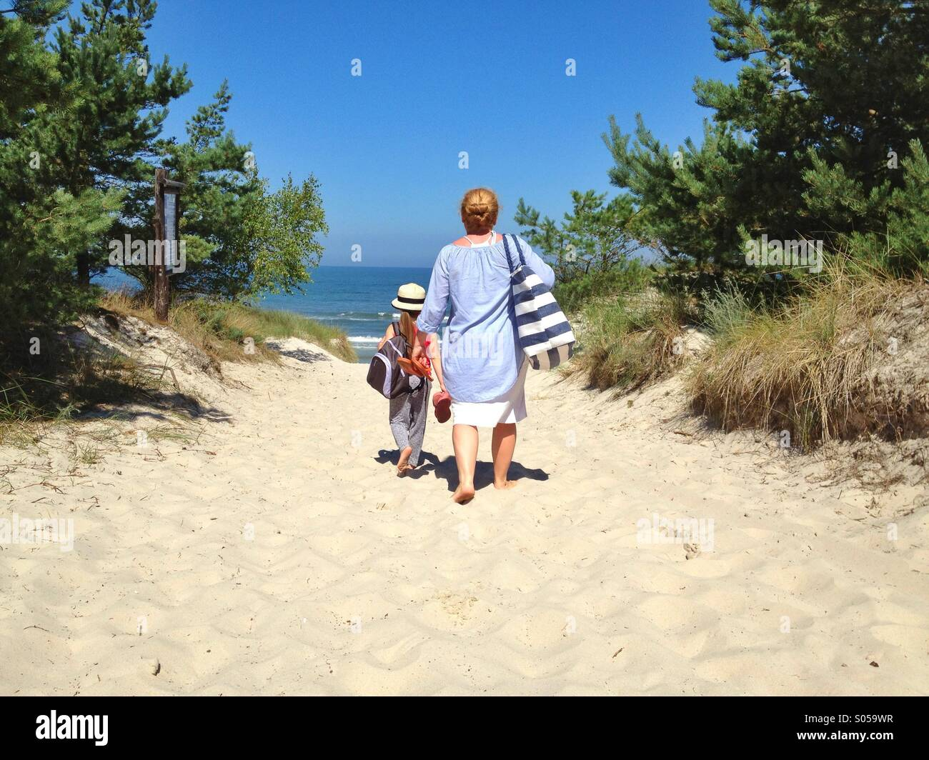 Going to the beach - Stock Image