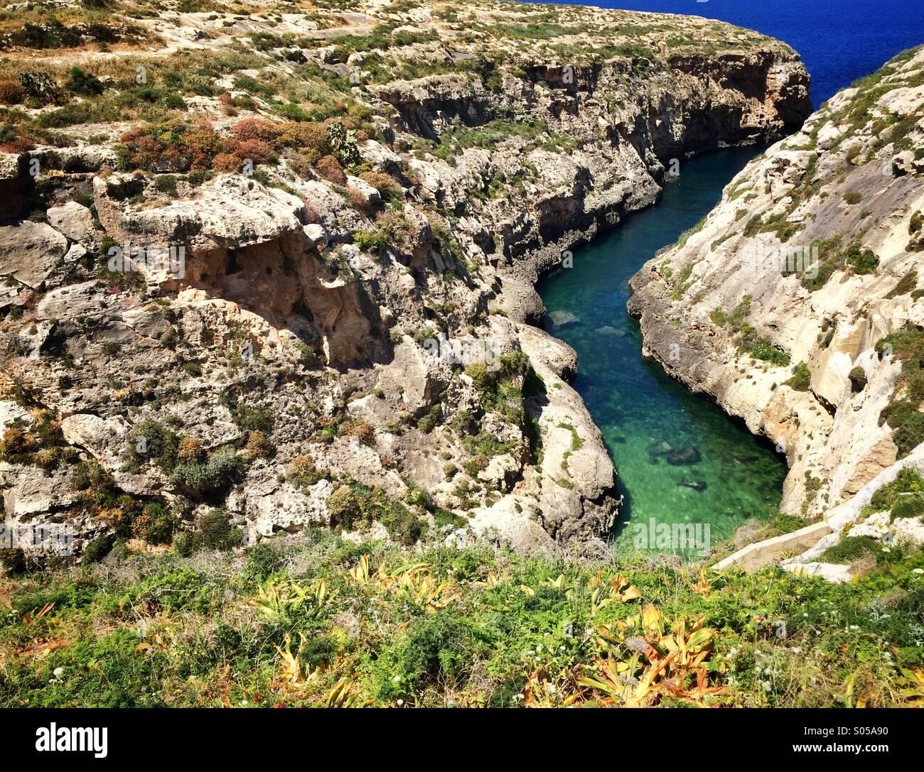 Wied Il-Ghasri Valley in Gozo, Malta - Stock Image