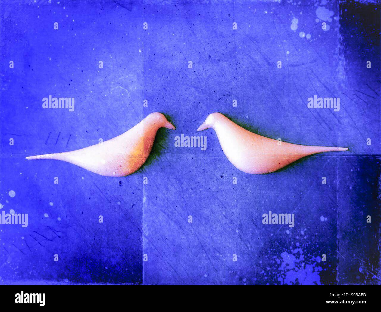 Two birds - Stock Image